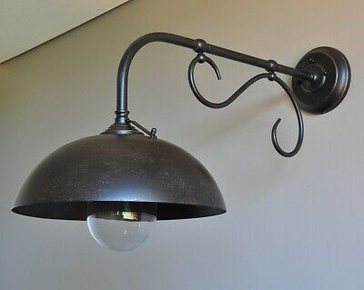"""""""BARGE""""-LARGE INDUSTRIAL STYLE EXTERIOR WALL BRACKET-""""BRONZE""""-BAR PORCH light"""