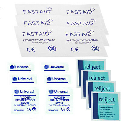 NHS Grade Pre-Injection Swabs Wipe 70% IPA Alcohol Wipes Piercing Tattoo Medical