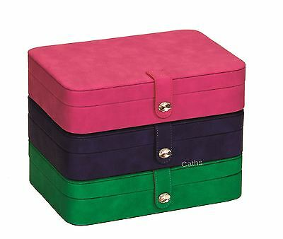 Mele 5172 Rectangle Soft PU Leather Jewellery Case Available in 3 Bright Colours