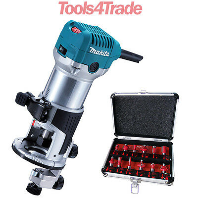 Makita RT0700CX4 1/4inch Router / Trimmer 240V with 12 Piece Cutter Set
