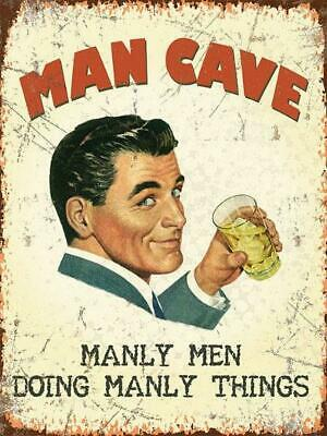 Vintage Style Metal Wall Sign Plaque Picture Man Cave Den Workshop Gift