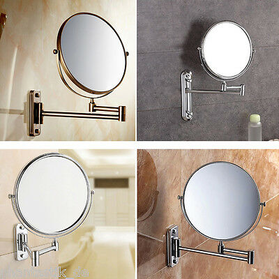 """8"""" Wall Mounted 10xMagnifying Extending Make Up Mirror Bathroom Cosmetic Shaving"""