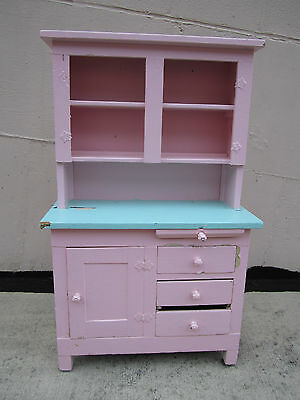 Antique / Vintage Child's Kitchen Cupboard painted wood Charming