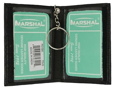 Premium Leather ID Holder with Key Chain