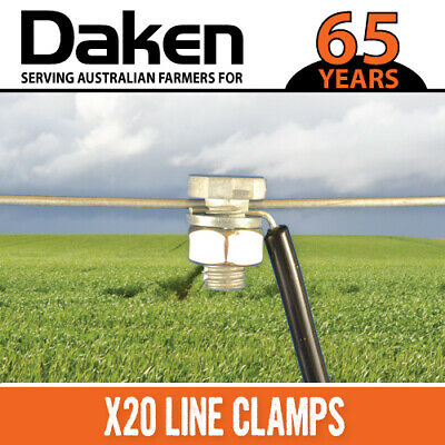 x20 Daken Electric Fence LINE CLAMP Clamps - Take Wires up to 3.15mm