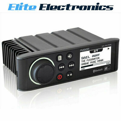 Fusion Ms-Ra70N Marine Bluetooth Nmea 2000 Stereo Ipod Mp3 Dock Am Fm Receiver