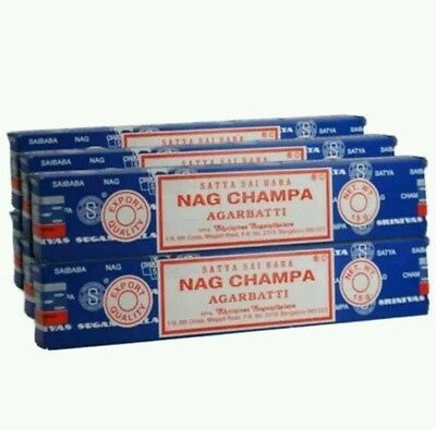 Pack of 3 Origional Satya Sai Baba NAG CHAMPA Incense Sticks Joss Insence 15g