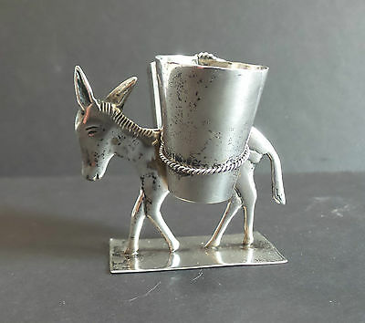 "Vintage Mexico Sterling Silver ""donkey / Burro"" Double Toothpick Holder"