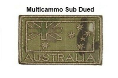 Australian Army 'australia' Shoulder Flashes Multicam Sub Dued