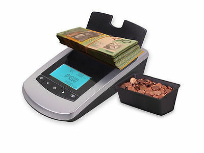 New Portable Digital Coin Note Sorter Money Counter Jewellery Australia