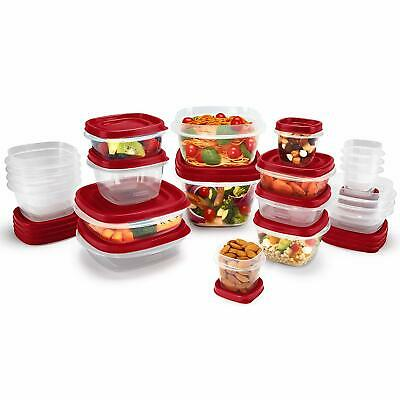 Plastic Food Storage Container Lids Rubbermaid Easy Find BPA-Free 42-Piece Set