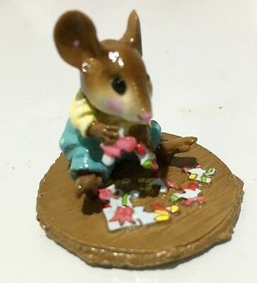 Wee Forest Folk - M-320 Puzzled Special- Many more WFF's on SALE ! FREE Shipping