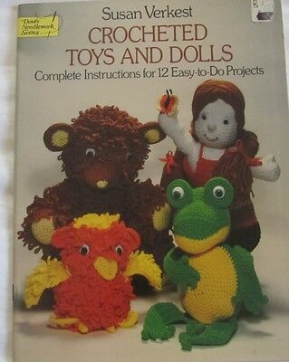 Dover Needlework Series Crocheted Toys & Dolls, Susan Verkest, 12 patterns