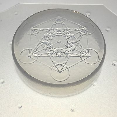 "Flexible Resin Mold Sacred Geometry Metatron's Cube 2"" x 1/2"" Orgone Orgonite"