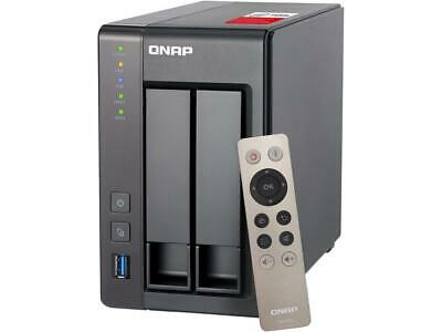 QNAP TS-251+-2G-US 2-Bay Personal Cloud NAS with HDMI Output. DLNA, AirPlay and