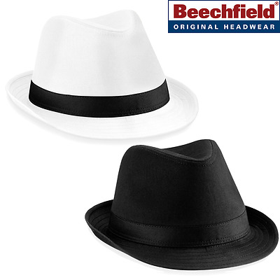 Beechfield FEDORA HAT SMART ELEGANT FANCY DRESS RETRO PARTY UNISEX LADIES MEN
