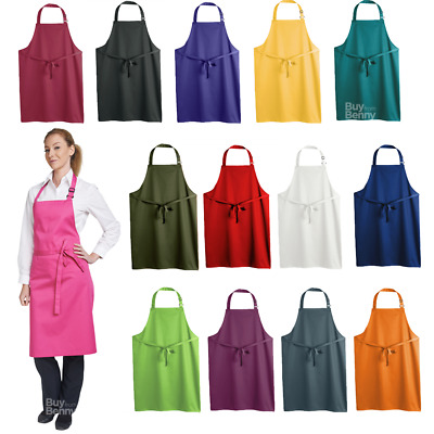 Dennys Bib Apron Long Waiter Restaurant Kitchen Catering Chef Tie Easy Care New