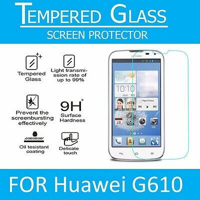 2 x Genuine Tempered Glass 9H Screen Protector For Huawei Honor Ascend G 610