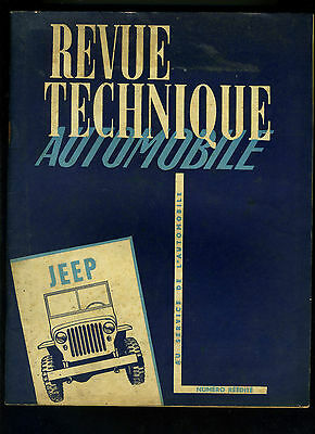(C11)REVUE TECHNIQUE AUTOMOBILE JEEP Type WILLYS et FORD