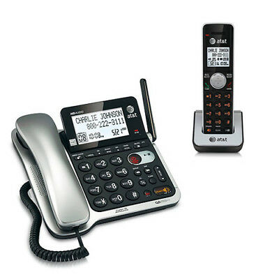 AT&T CL84102 DECT 6.0 1.9GHz Expandable Wall Digital Corded / Cordless Phone New