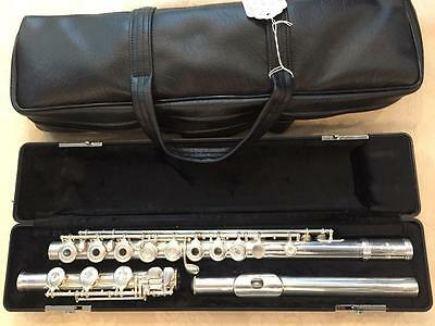 Used Evette by Buffet Solid Silver Flute-Model L13B-Reburbished Great Condition!