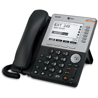 """AT&T SB35031 Syn248 8 lines Deskset - VoIP phone W / 5"""" LCD Display"""