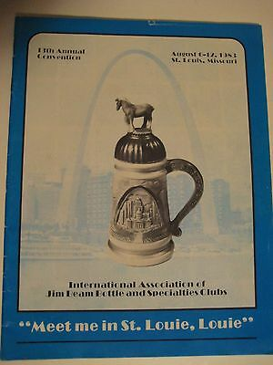 Vintage Original 1983 13th Annual JIM BEAM Bottle Club Program St Louis Missouri