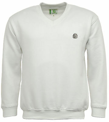 Green Play Premium V Neck Sports Sweatshirt Jumper - Bowls, Golf, Cricket