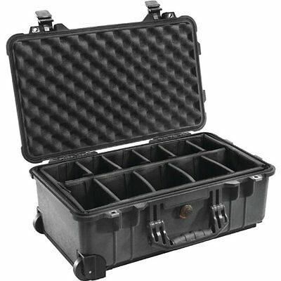 Pelican Products V32653B 1510-004-110 Case with Padded Dividers Black