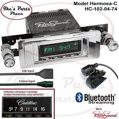 RetroSound 49-56 Cadillac Hermosa-C Radio/Bluetooth/RDS/USB/3.5mm AUX-In 4 ipod