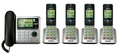 Vtech CS6649-3 + (1) CS6609 5 Handset Corded / Cordless Phone New
