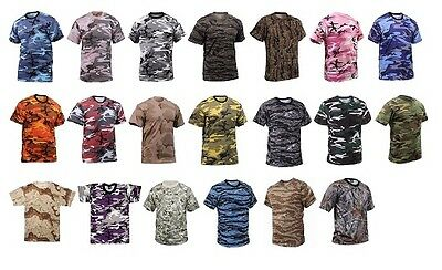 Rothco Army Tactical Camo Military Style Camouflage T-Shirt Hunting Tee Shirts