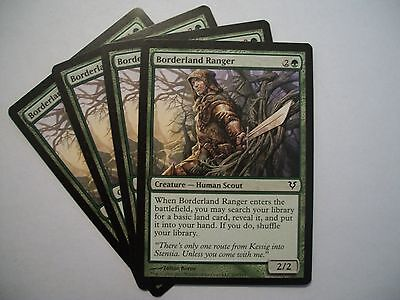 4 x MTG Card Borderland Ranger Avacyn Restored