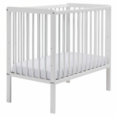 East Coast Nursery Furniture Carolina Space Saver Cot Bed and Mattress In White