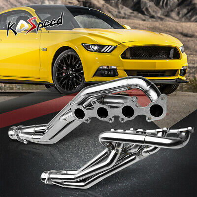 Gt 5.0 Stainless Steel Long Tube Header Exhaust Manifold For 11-16 Ford Mustang