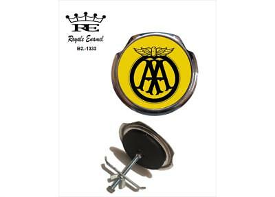 Royale Classic Car Grill Badge + Fittings - AA YELLOW BADGE B2.1333