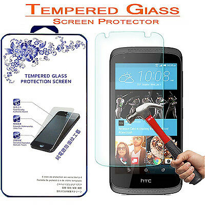For HTC Desire 526 [Tempered Glass] Screen Protector 9H Hardness 2.5D