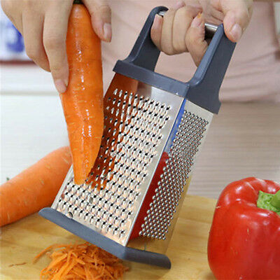 4 Sided Box Grater Cheese Vegetable Slicer Stainless Steel Kitchen Tool