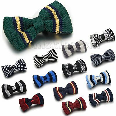 Mens Chic Knit Bowknot Knitted Adjustable Bow Tie Tuxedo Necktie Bowtie Neckwear