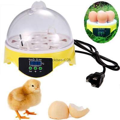 Mini 7 Eggs Chicken Duck Quail Egg Poultry Hatcher Digital Automatic Incubator