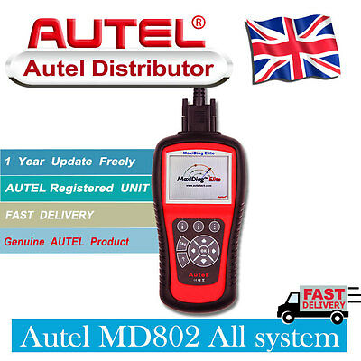 Autel MD802 All Full System Elite Mxidiag Graphing Diagnostic Tool Scanner Code