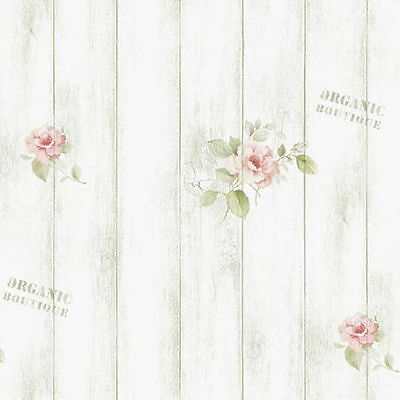 Wood Panel Wallpaper Rose Pattern Whitewash Rustic Plank Contact Paper Sticker