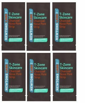T-Zone 6 Charcoal Clear Out Nose Pore Strips Deep Cleansing Blackheads & Spots