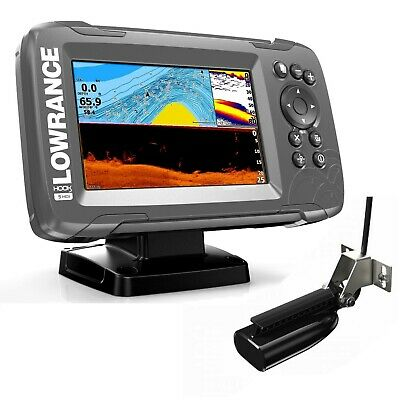 Lowrance HOOK 5  Plotter / Fishfinder c/w Hybrid HDI CHIRP Downscan Transducer