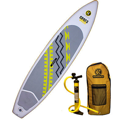 """2016 C4 Waterman 10'11"""" Crossover 150 Inflatable SUP Standup Paddle Board"""