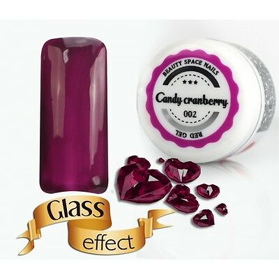 Gel UV Colorato - Red Line Candy Cranberry -02 Glass Effect -5ml -
