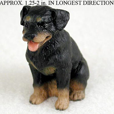 Rottweiler Mini Resin Hand Painted Dog Figurine Statue Hand Painted