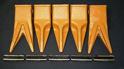 1- Set Tiger Bucket Teeth & Pin Set For John Deere, Case Backhoe 230