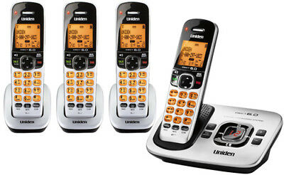 Uniden D1780-4 4 Handset 1.9GHz Cordless Speaker Phone DECT 6.0 Expandable New