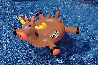 Swimline LOL 54 inch Moose Inflatable Ride-On Toy for Swimming Pool